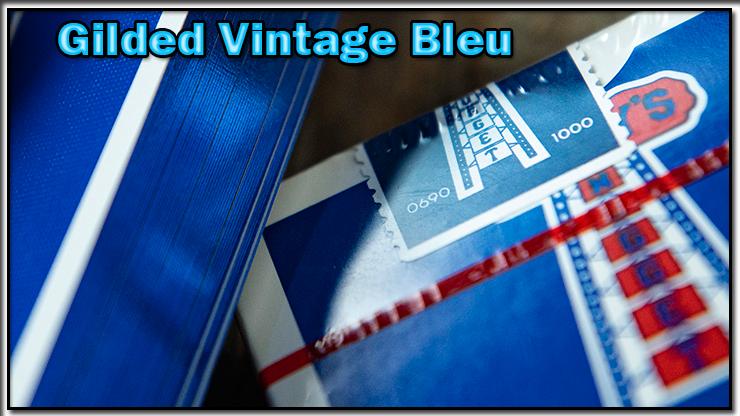 gros plan sur le seau numéroté du jeu Vintage Feel Jerry's Nuggets Gilded Bleu.
