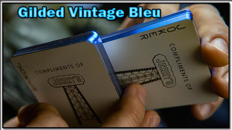 gros plan sur le joker du jeu Vintage Feel Jerry's Nuggets Gilded Bleu.