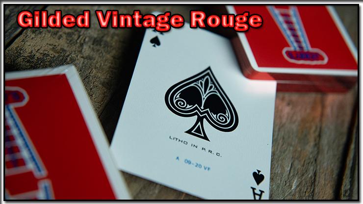 voici l'as de pique et son dos du Jeu Vintage Feel Jerry's Nuggets Gilded Rouge.