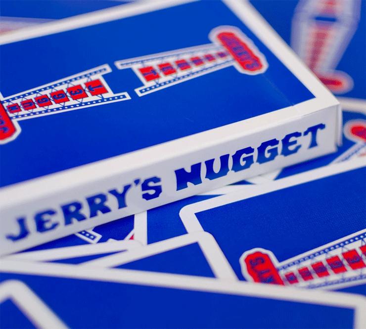 etui et dos des jeux de carte jerrys nuggets modern feel bleu