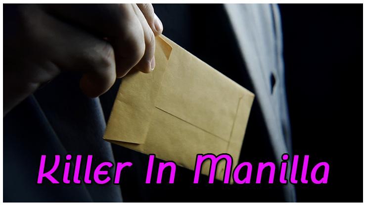 une enveloppe sort de la poche de la veste du tour  Killer in Manilla De Alex Latorre et Mark Mason