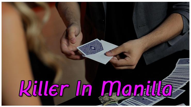 le magicien sort la prédiction de l'enveloppe du tour  Killer in Manilla De Alex Latorre et Mark Mason
