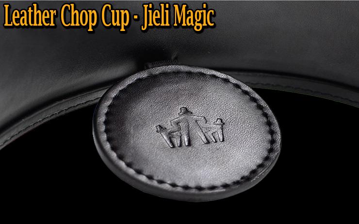 le cuir est gravé du sigle de Jieli magic du tour Leather Chop Cup en Cuir
