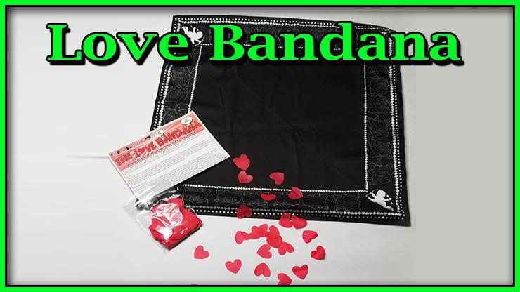 le foulard noir avec de jolie broderie plus les coeur de confetti en recharge de Love Bandana De Lee Alex