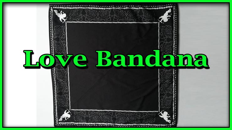 le foulard noir bien plat sans rien dessus de Love Bandana De Lee Alex