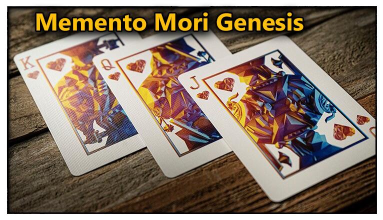 le roi la dame et le valet de coeur sur la table du Jeu De Carte Memento Mori Genesis
