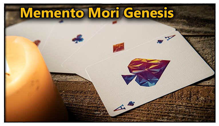 les quatre as a cote d'une bougie du Jeu De Carte Memento Mori Genesis
