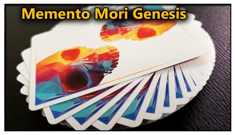 les carte etalées en rosasse sur la table vu de dos du Jeu De Carte Memento Mori Genesis