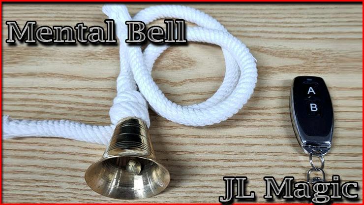 voici la cloche la corde et sa télécommande du Tour Mental Bell De Jl Magic la cloche magique