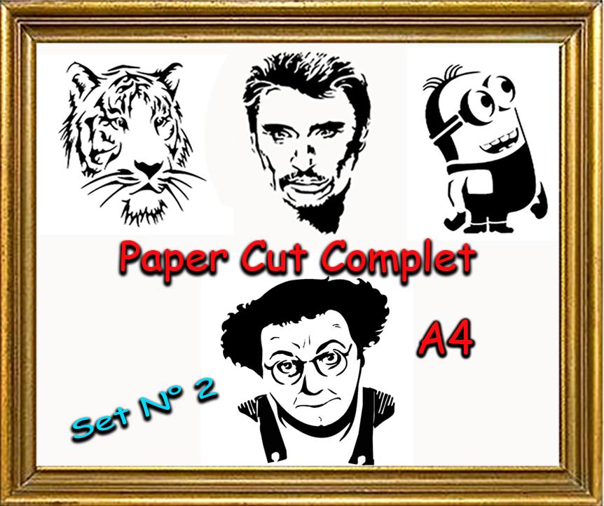 paper cut série complet johnny tigre coluche et minion