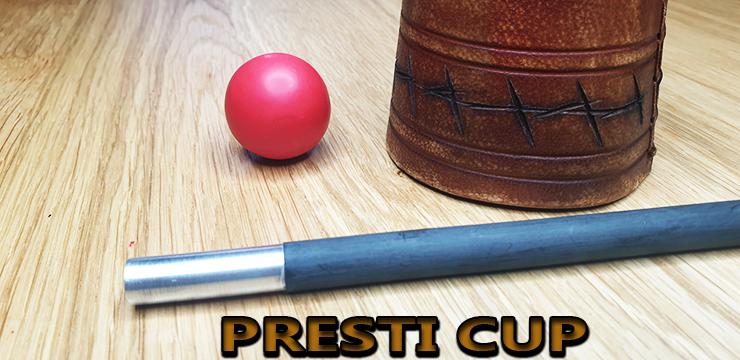 gros plan sur la baguette alu la boule et le cup du tour Presti Cup Vintage Edouard Boulanger