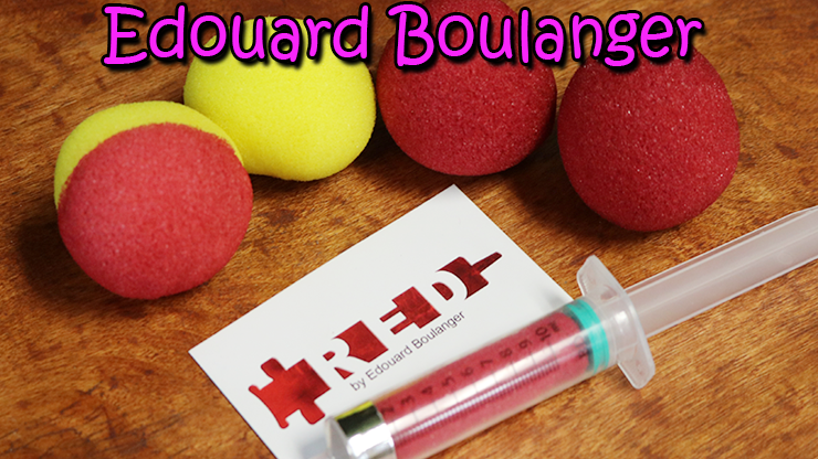 matériel fourni, 1 boule rouge, 1 jaune et une bicolor du tour Red de Edouard Boulanger.