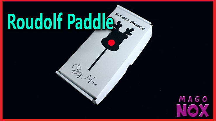 Présentation de la boite avec le dessin du renne au nez rouge du tour Roudolf Paddle