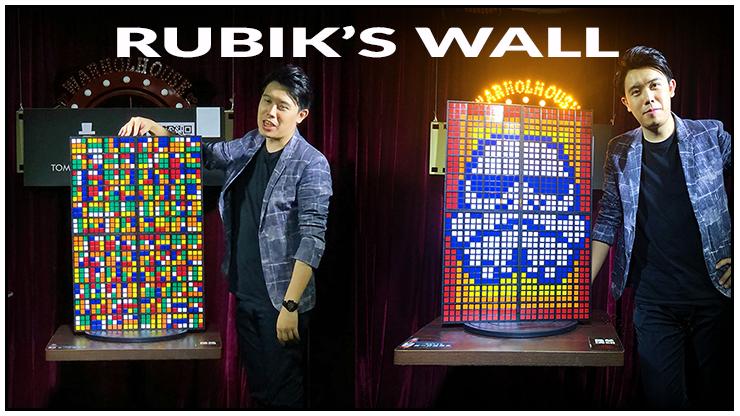en reunissant 4 rubik's wall l'image de prédiction est 4 fois plus grande, c'est le tour Rubiks wall Standard set - Bond Lee