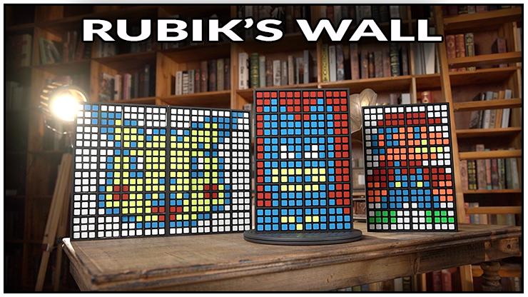 3 modéles de prediction final, un pikachu, un mario et un robot c'est le tour Rubiks wall Standard set - Bond Lee
