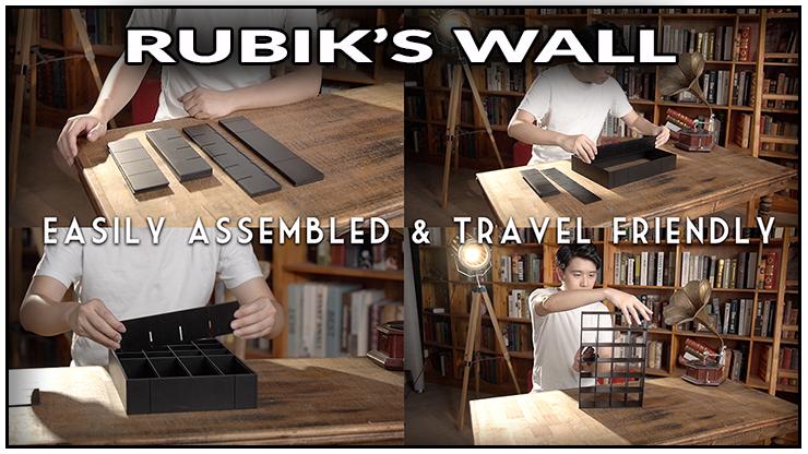 4 photos ou bond lee nous montre comment construire son tour Rubiks wall Standard set - Bond Lee