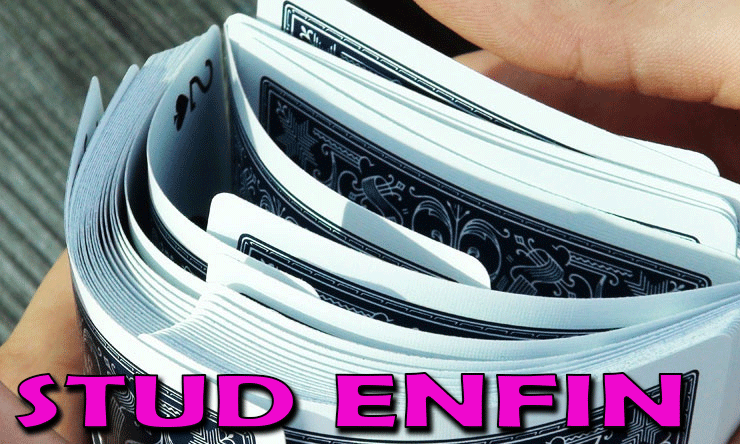 idéal pour les riffles shuffle STUD BLEU PLAYING CARD