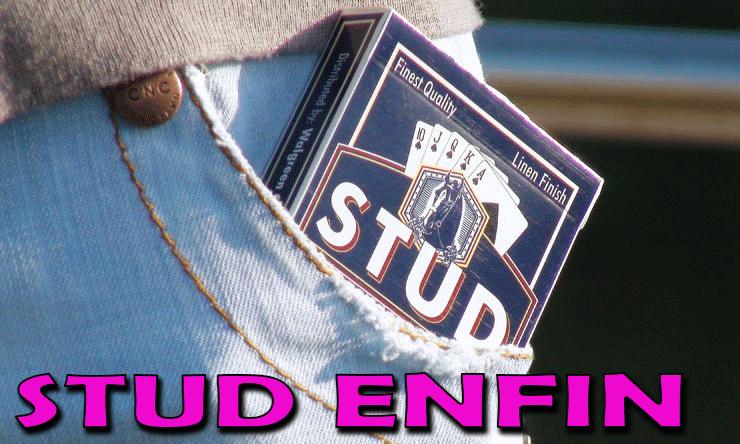 jeu stud dans la poche idéale pour la magie de rue STUD BLEU PLAYING CARD