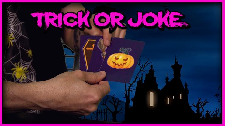 gros plan sur les trois cartes du Tour Trick Or Joke De Gustavo Raley