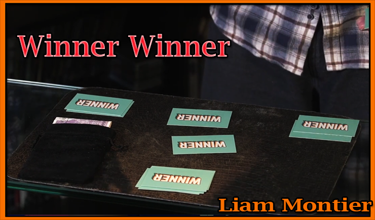 que des cartes avec écrit winner sont sur la table le tour commence c'est Winner Winner Chicken Dinner De Kaymar Magic